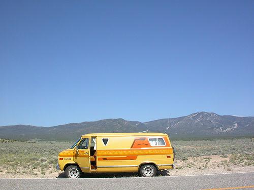 Chevy van desert