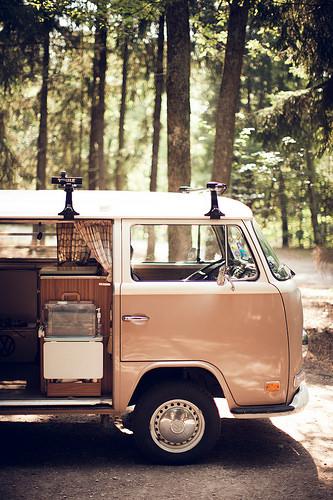 hippie van road trip