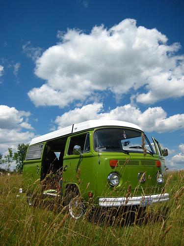 hippie van camping
