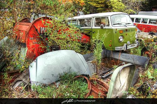 VW Van desert