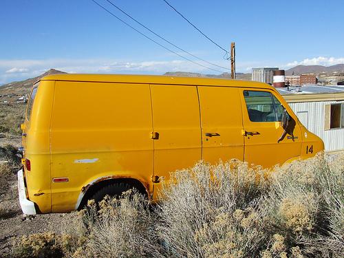 Dodge van desert