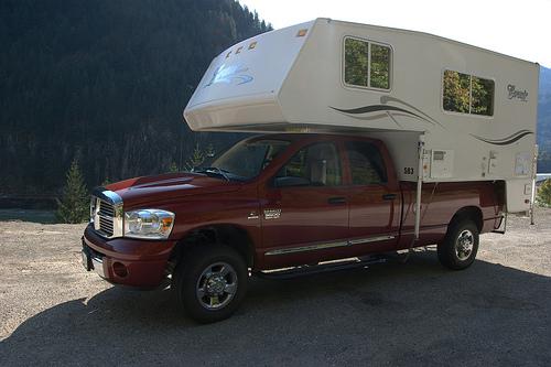 dodge van camping