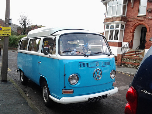 VW Van camping