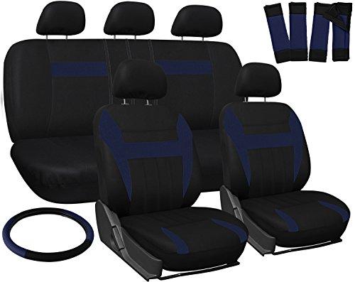 OxGord Car Seat Cover Blue Black Fits Truck Van SUV Full Set