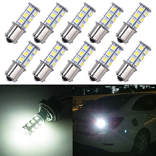 Trisense 1156 1003 1141 7506 Ba15s 18smd Led Bulbs White 10 Pack Replacement For Rv Camper