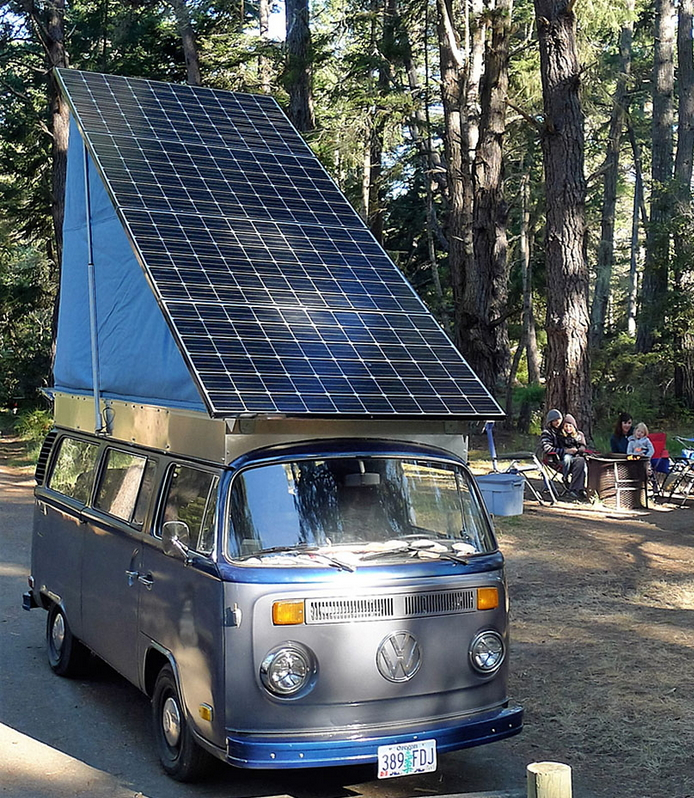 Amazing! Fully Solar Powered Electric VW Bus