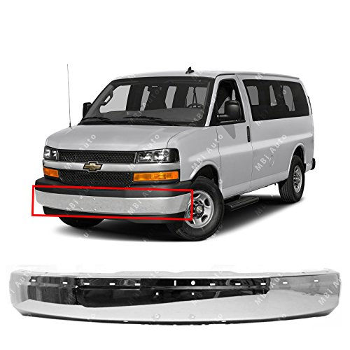 Chrome, Steel Front Bumper Face Bar Shell For